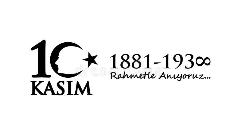 Listopadu 10 Ataturk uczczenia dzień ilustracji