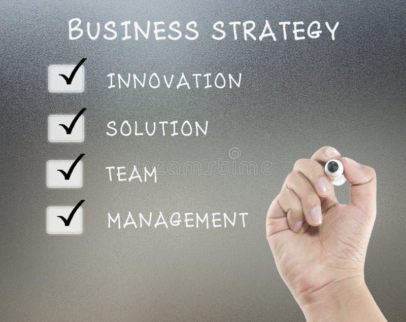 Listor för affärsstrategi royaltyfri bild