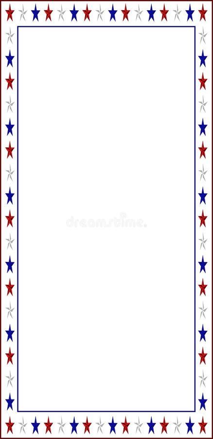 Listowa granica z Amerykańskimi kolorami obrazy stock