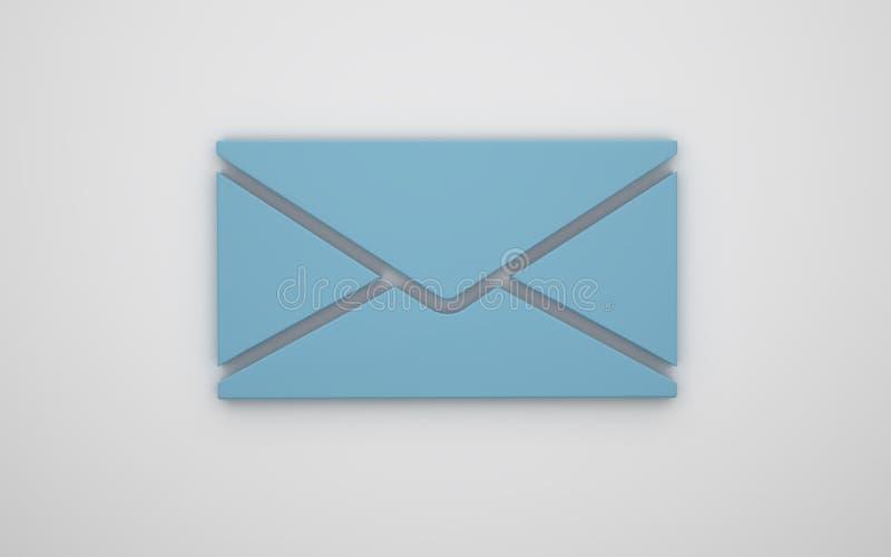 Listowa ikona 3d obraz royalty free