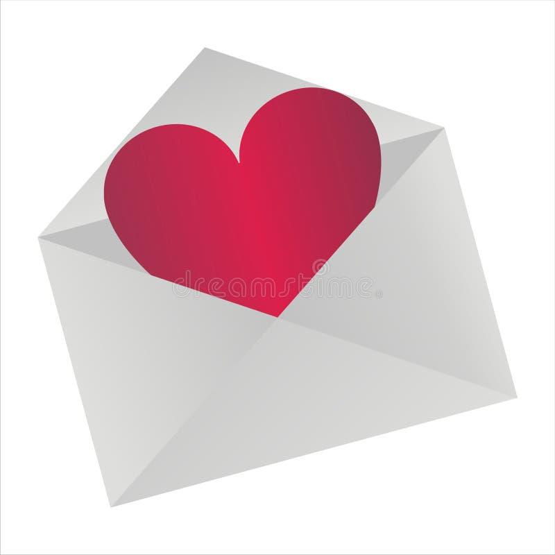listowa miłość ilustracja wektor