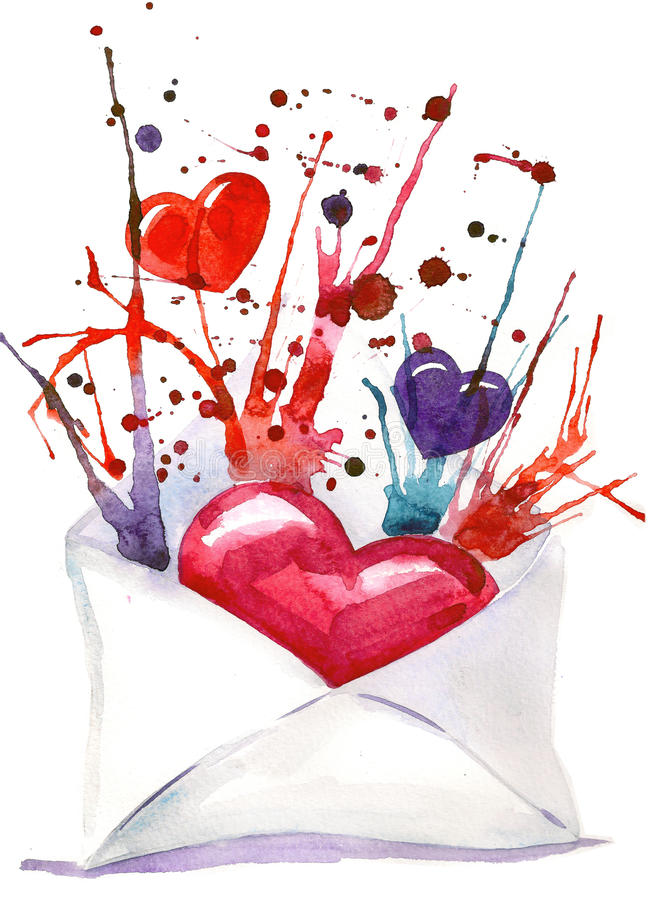 listowa miłość ilustracji
