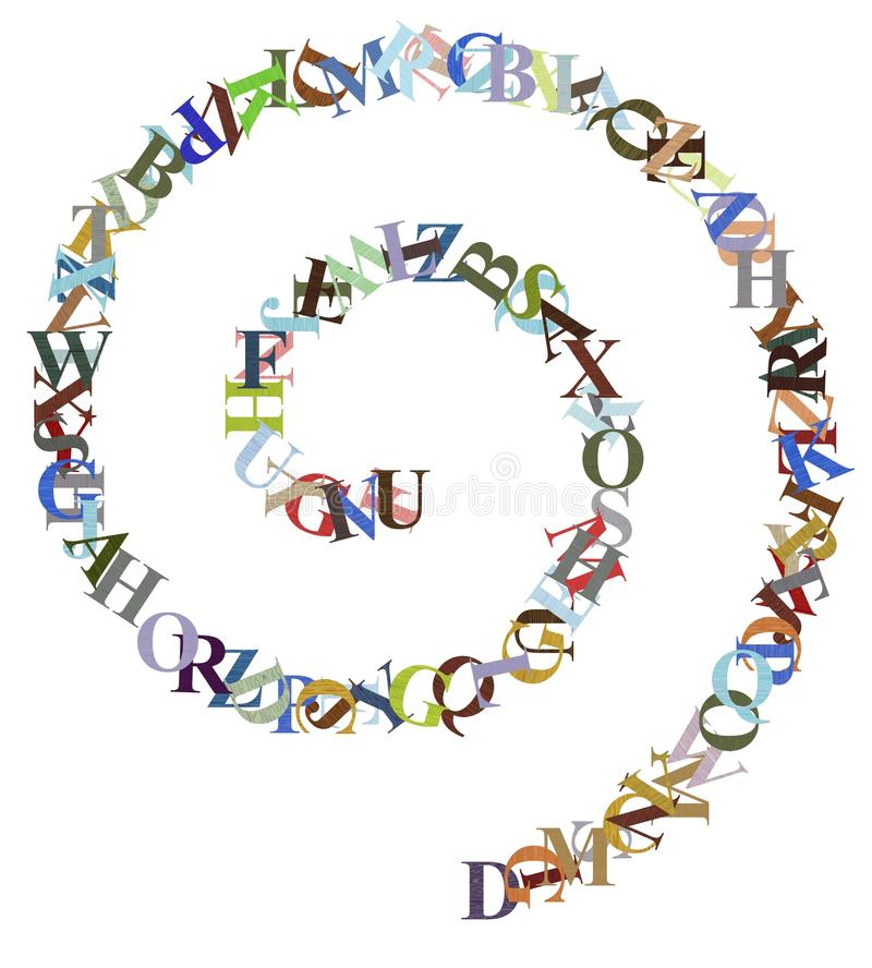 Listowa spirala ilustracji