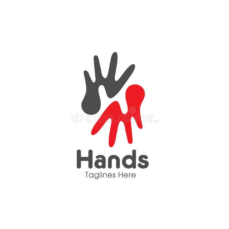 Listowe H ręki, opieka loga wektor ilustracji