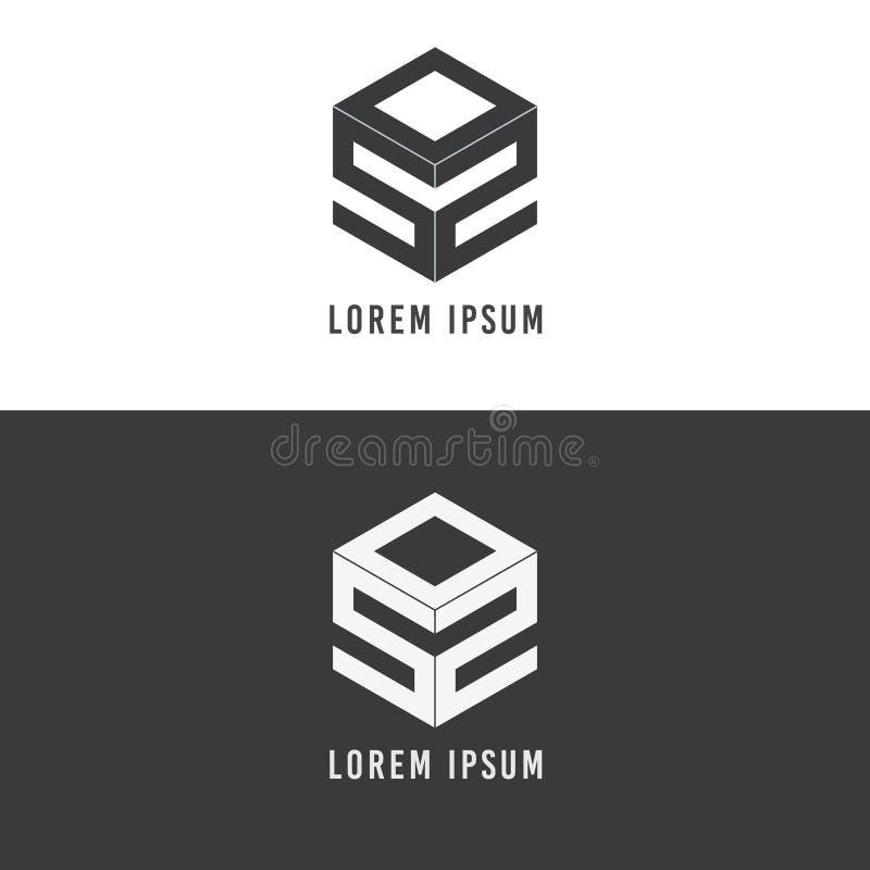 Listowego ikona logo isometric projekt royalty ilustracja