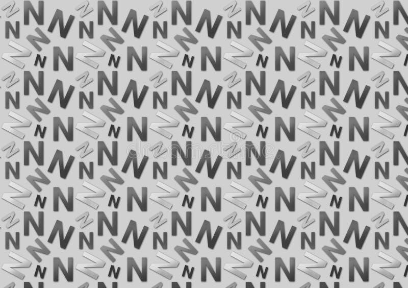 Listowego N wzór w różny barwionym siwieje cienie dla tapety obrazy royalty free