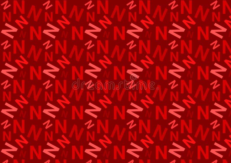Listowego N wzór w różnych barwionych czerwień cieniach dla tapety zdjęcie royalty free