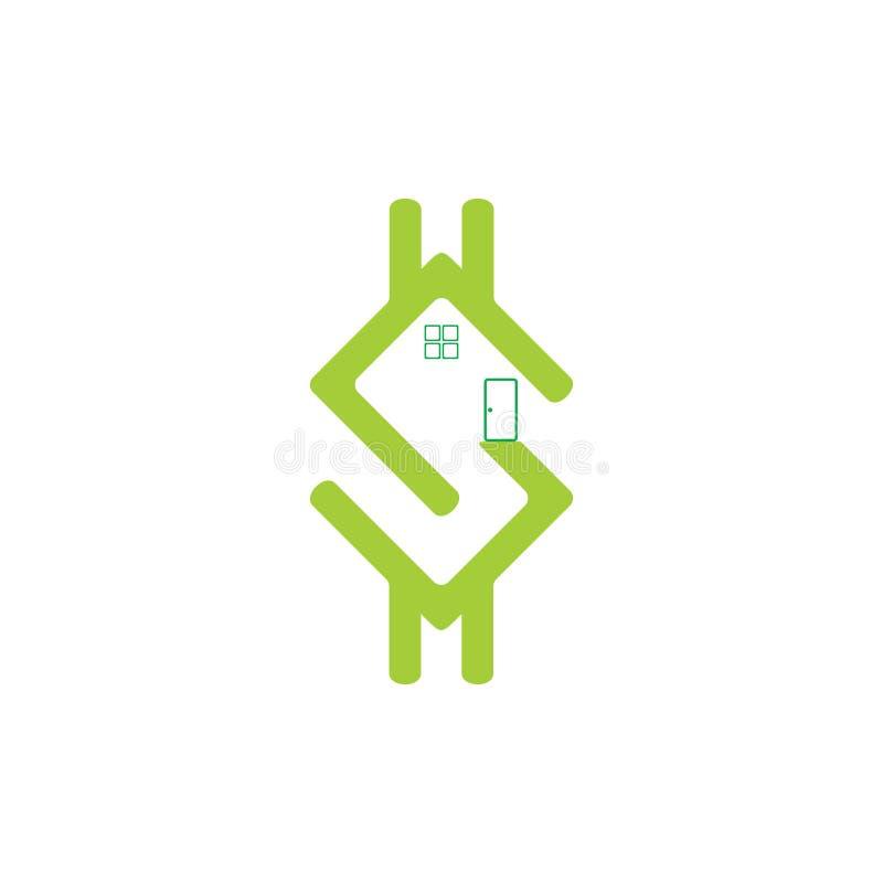 Listowego s pieniądze dolara domu symbolu wektor ilustracji
