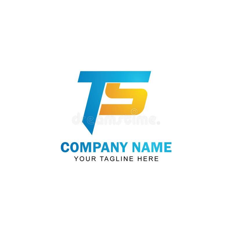 Listowego TS logo Wektorowy projekt ilustracja wektor