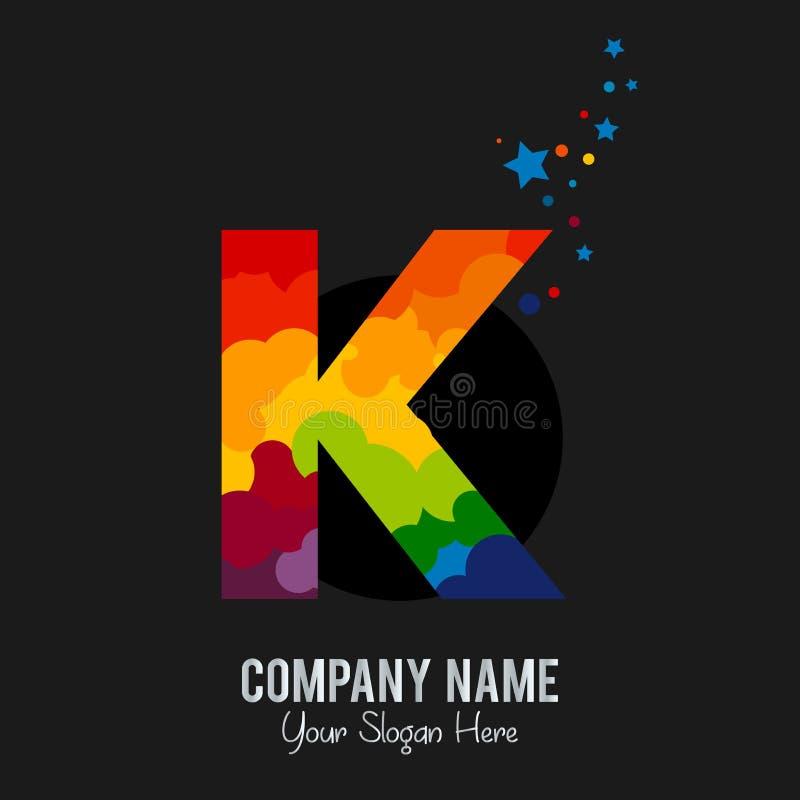 Listowi K loga ikony projekta szablonu elementy royalty ilustracja
