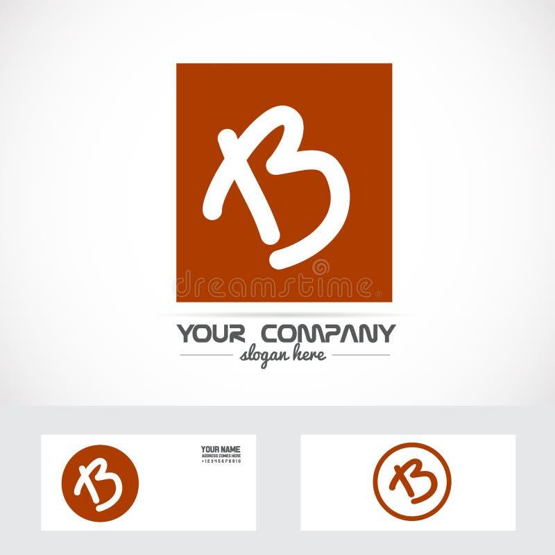 Listowy b brązu pomarańcze logo ilustracja wektor