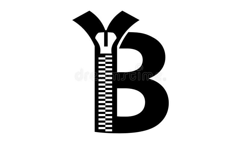 Listowy b Nowożytny royalty ilustracja