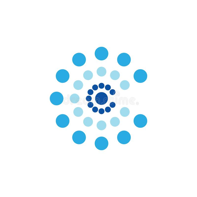 Listowy c kropkuje gradientowego logo wektor royalty ilustracja