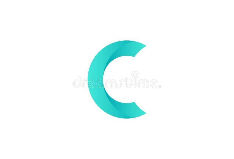 Listowy C loga projekt royalty ilustracja