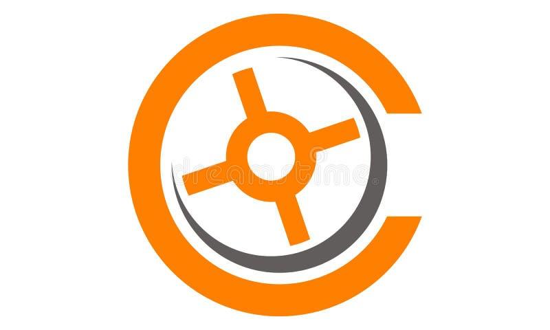 Listowy C Nowożytny logo royalty ilustracja