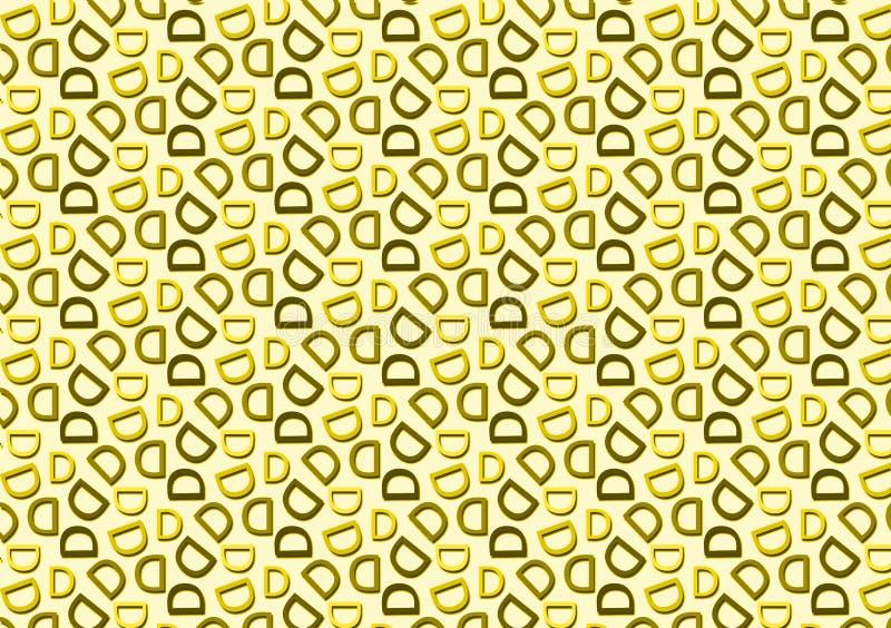 Listowy d wzór w różnym barwionym cienia wzorze ilustracja wektor