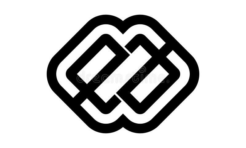 Listowy EA Nowożytny logo ilustracja wektor