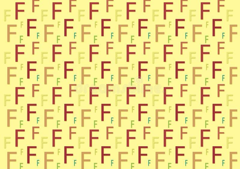Listowy F wzór w różnych barwionych cieniach dla tapety zdjęcie stock