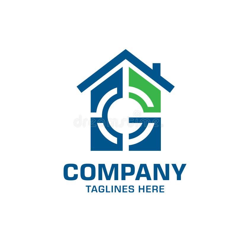 listowy g celu domu logo ilustracji
