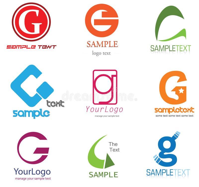 listowy G logo ilustracja wektor