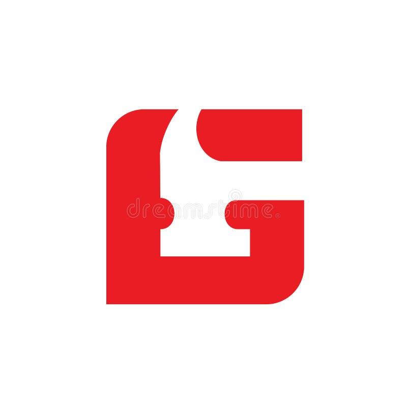 Listowy G młota logo, odświeżanie lub Repairment, Wektorowa ikony ilustracja royalty ilustracja