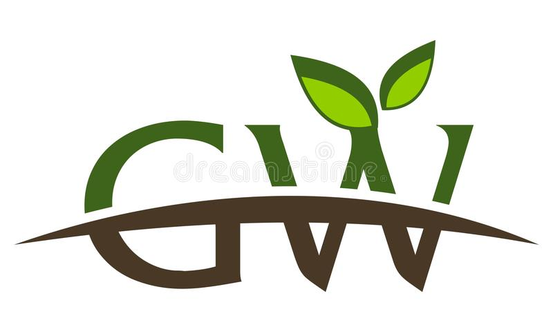 Listowy GW Nowożytny logo ilustracja wektor