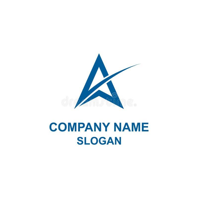 Listowy inicjał gwiazdy logo ilustracja wektor