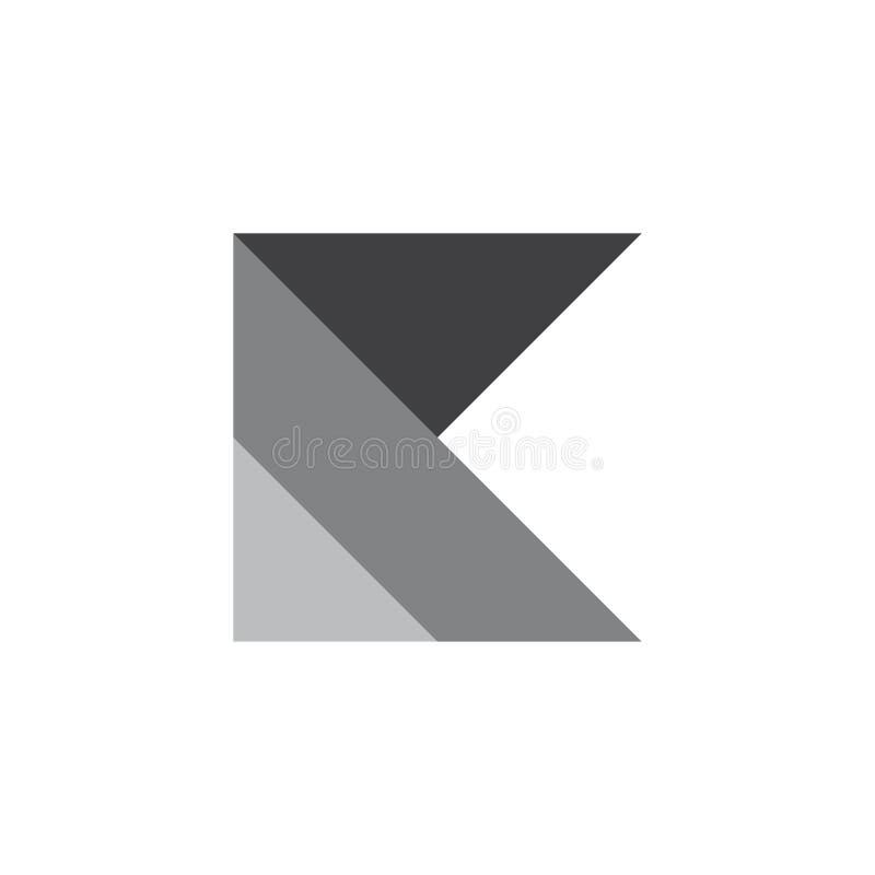Listowy k gradientu papieru fałdu logo royalty ilustracja