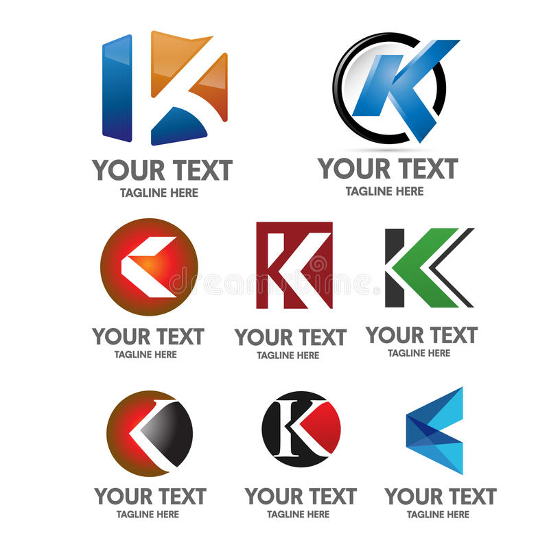 Listowy K loga pojęcie ilustracji
