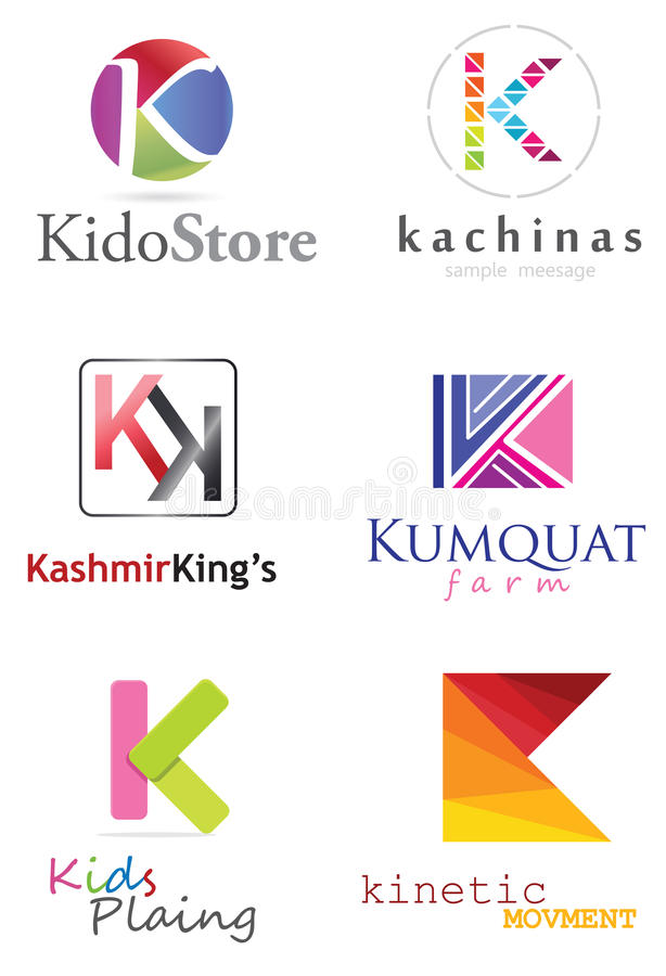 Listowy K logo royalty ilustracja