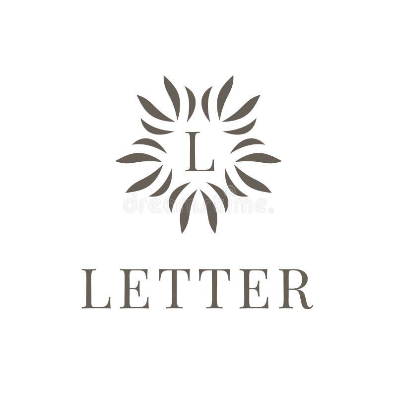 Listowy L logo ikony projekta szablonu element na białym tle Nowożytny symbol dla firmy lub biznesu royalty ilustracja