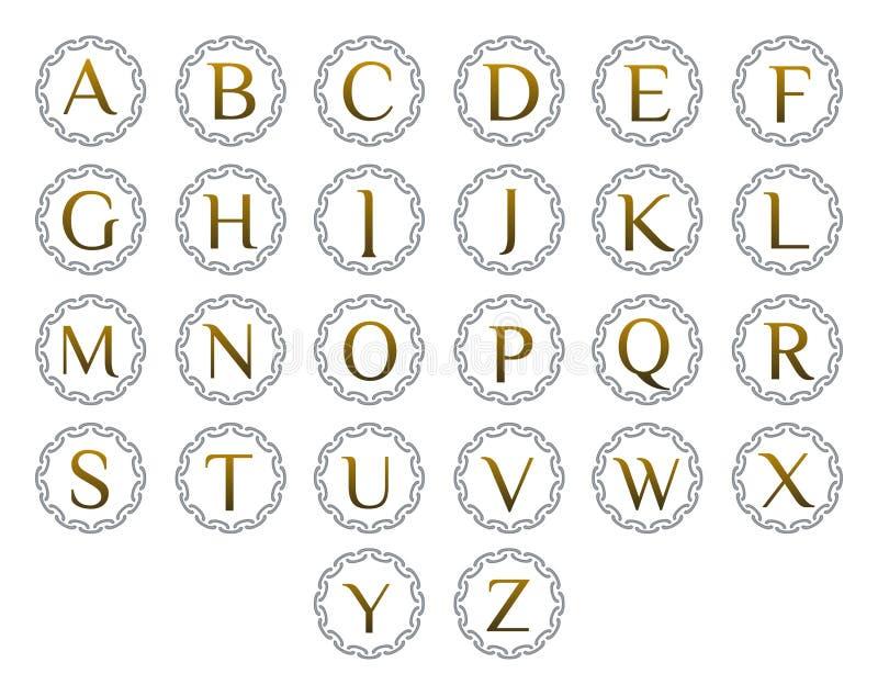 Listowy loga set obrazy stock