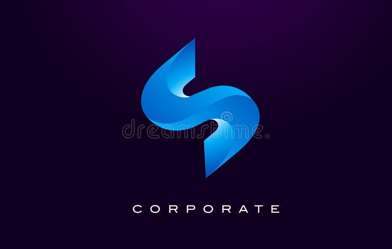 listowy logo s S Listowego projekta wektor ilustracja wektor