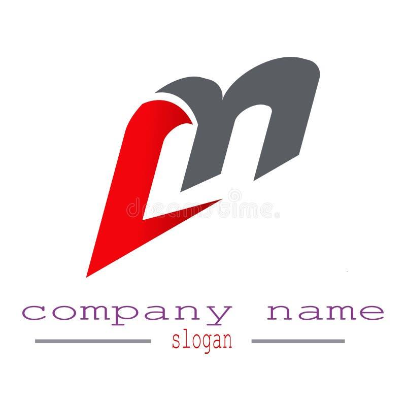 Listowy M loga wektor royalty ilustracja