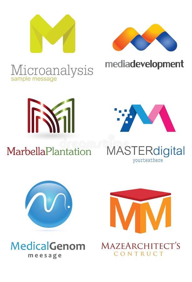 Listowy M logo ilustracji