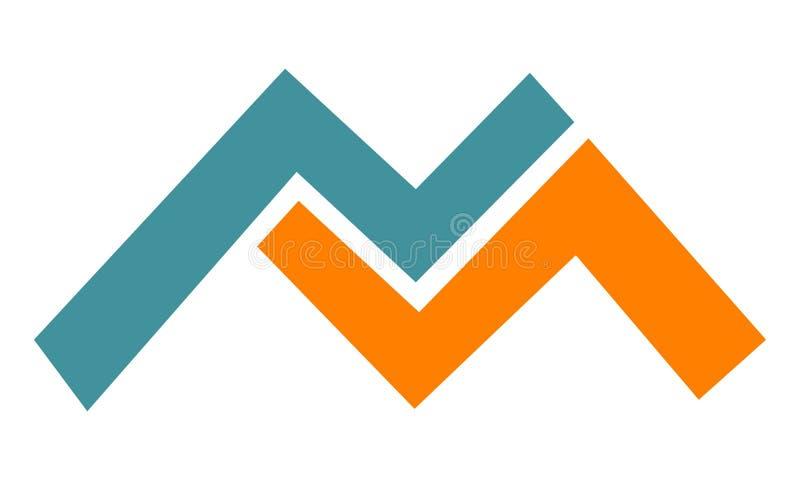 Listowy M Nowożytny logo ilustracji