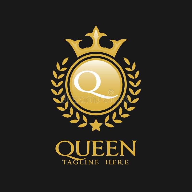 Listowy Q logo - Klasyczny Luksusowy Stylowy logo szablon royalty ilustracja