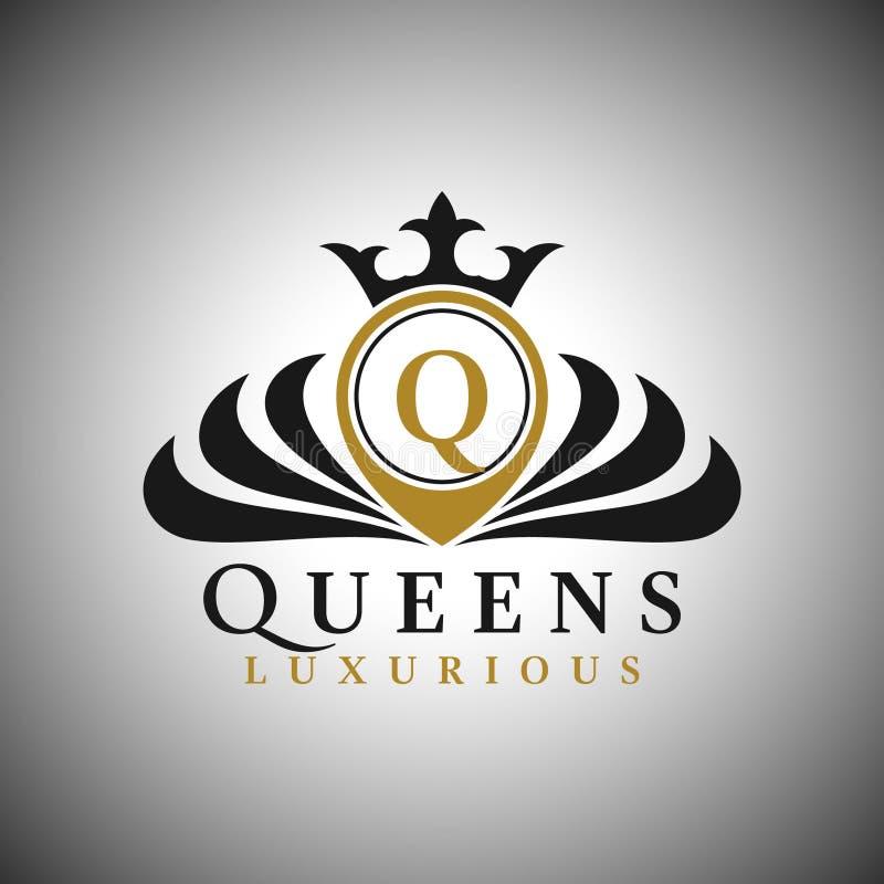 Listowy Q logo - Klasyczny Luksusowy Stylowy logo szablon ilustracja wektor