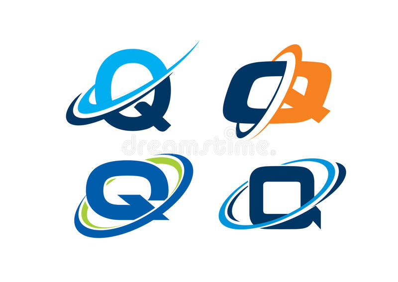 Listowy Q nieskończoności pojęcie zdjęcia royalty free