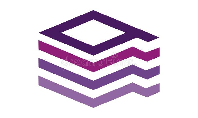 Listowy Q Nowożytny logo royalty ilustracja