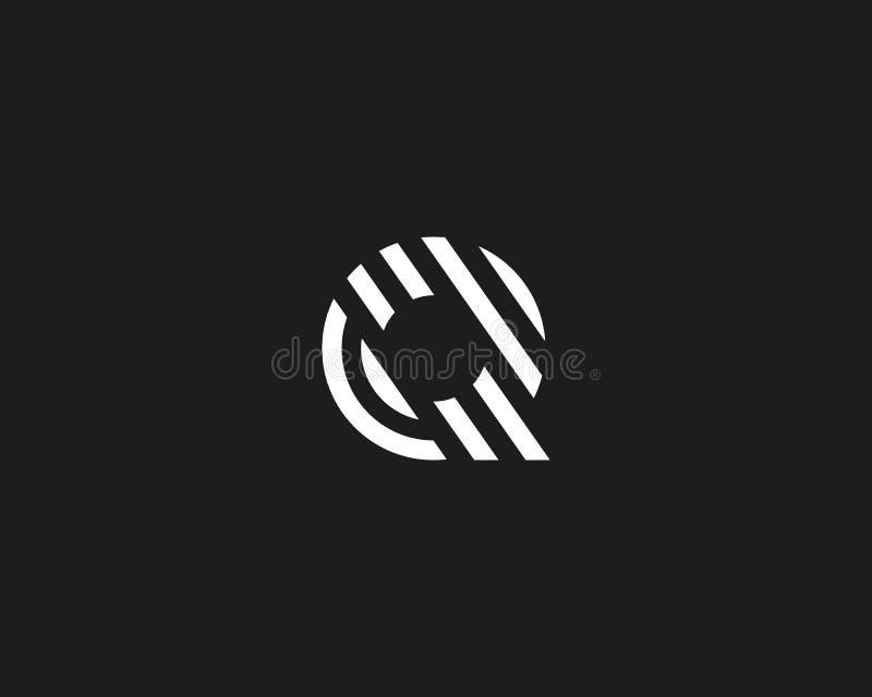 Listowy Q wektoru linii loga projekt Kreatywnie minimalizmu logotypu ikony symbol ilustracja wektor