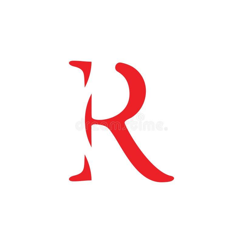 Listowy r logo abstrakcjonistyczny wektor ilustracji