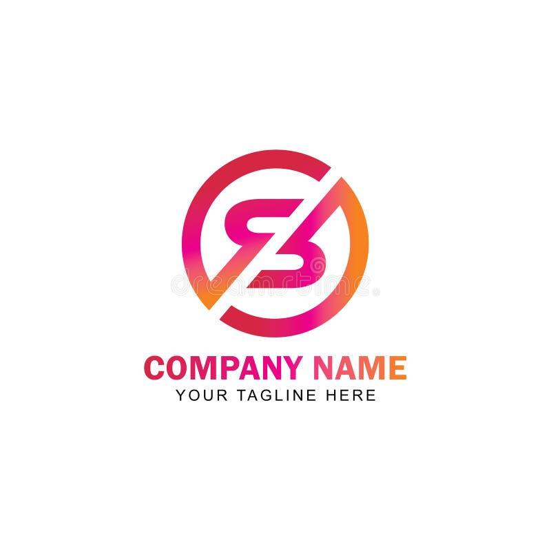 Listowy SZ logo projekta wektor ilustracja wektor