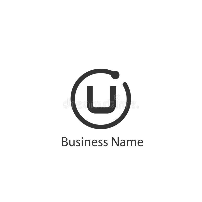 Listowy U loga projekt ilustracja wektor