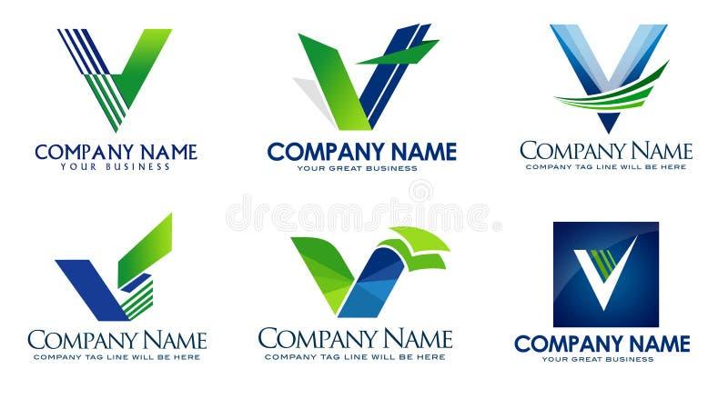 Listowy V logo ilustracja wektor