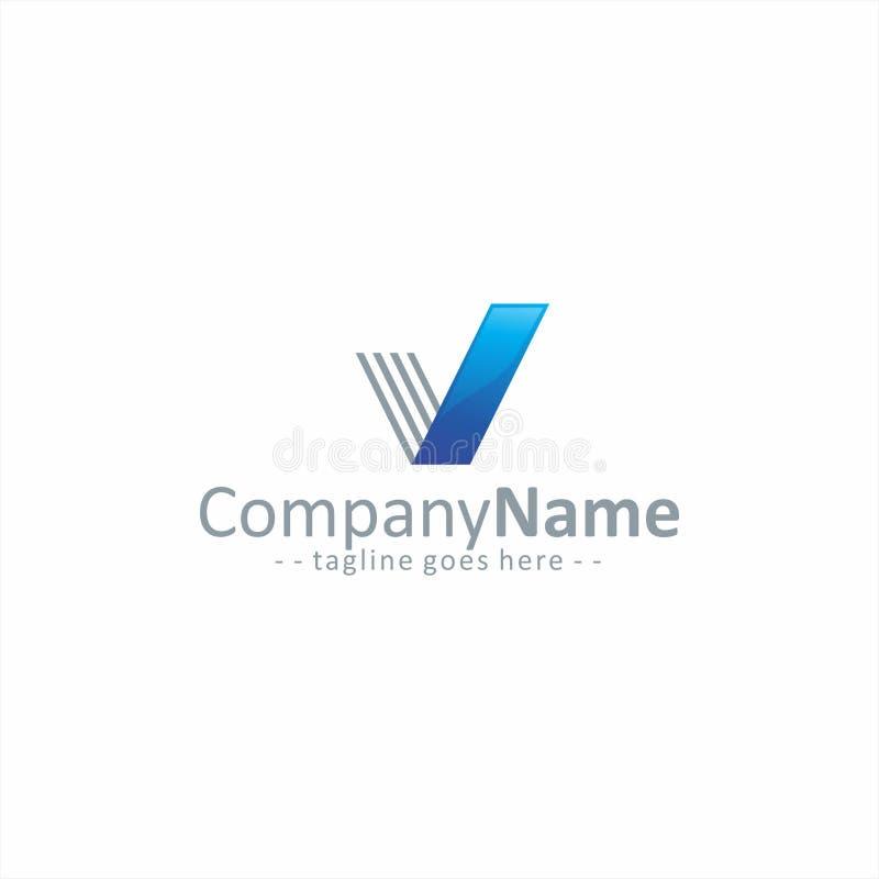 Listowy V logo Prosty obrazy royalty free