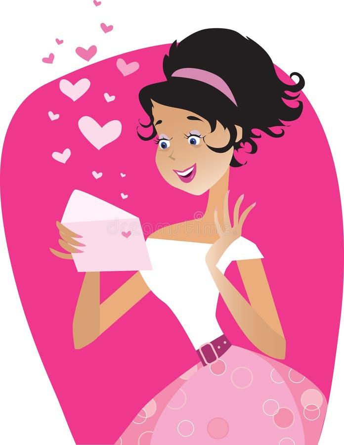 listowy valentine ilustracji