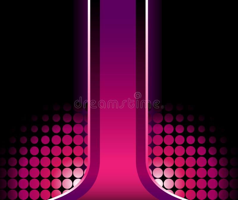 Listra 3D cor-de-rosa bonita ilustração do vetor
