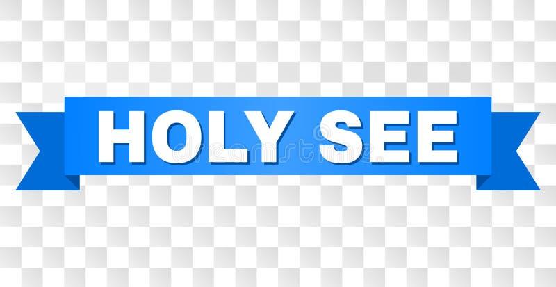 Listra azul com título de HOLY SEE ilustração stock