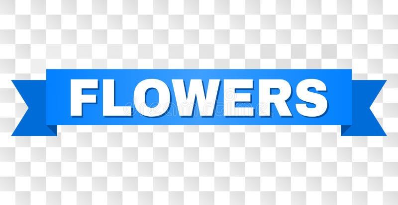 Listra azul com texto das FLORES ilustração stock